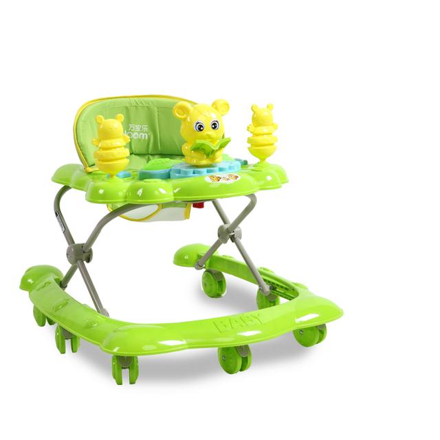 Mejores Ventas de 7-18 Meses Bebé Coche Anti Vuelco Tipo U Con Música Multifuncional Andador Juguetes Placa de Seguridad plegable Fácil