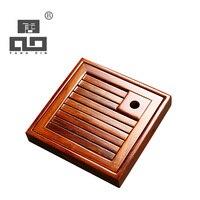 TANGPIN Aquare Natural Wood Tea Tray Wood Tea Board Kung Fu Tea Tray Table Accessories