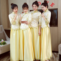 Vintage Bridal Bridesmaid Cheongsam Modern Traditional Chinese style Wedding Dress Oriental Womens Qipao Vestidos Size S XXL