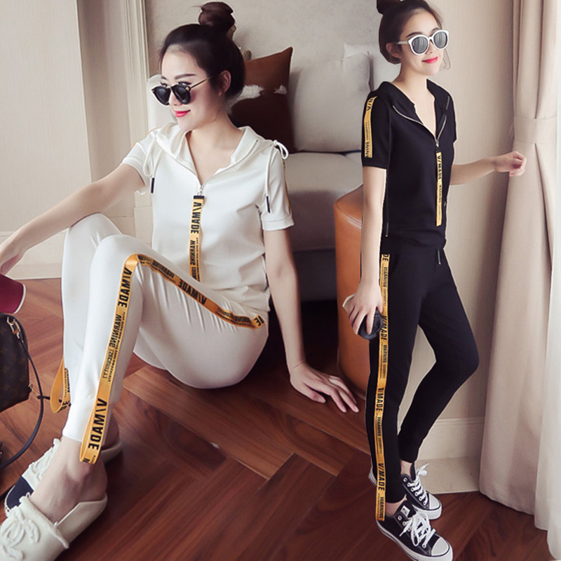 Youth clothing for women tracksuit for women 2 piece set Large size clothing for women Knitted pullover Hooded tops + pants 4558 31