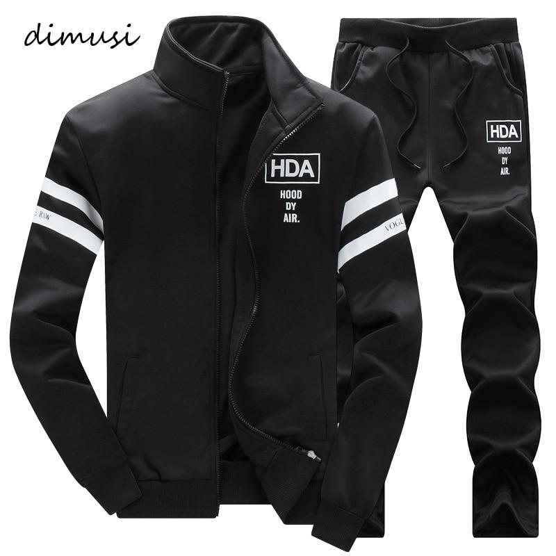 DIMUSI Autumn Winter Mens Sportwear Suits Male Outwear Tracksuit Sweatshirts 2PC Jacket+Pant Mens Hoodies Warm Sweatshirts,TA271