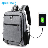 2018 Canvas Men Backpack Anti Theft With Usb Charging Laptop Business Unisex Knapsack Shoulder Waterproof Women