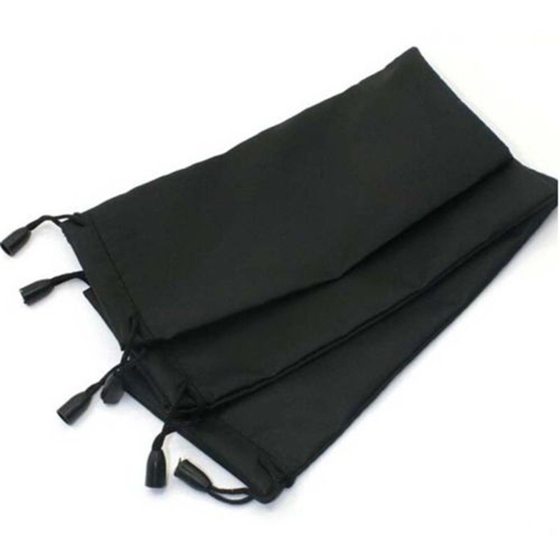 100 pcs/lot 18*9cm Glasses Case Soft Waterproof Plaid Cloth Sunglasses Bag Glasses Pouch Black Color Wholesale Good Quality-in Eyewear Accessories from Apparel Accessories