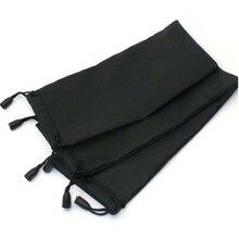 Unids/lote de 100 gafas de sol de 18x9cm, estuche de tela suave impermeable a cuadros, bolsa de gafas, Color negro, venta al por mayor, buena calidad