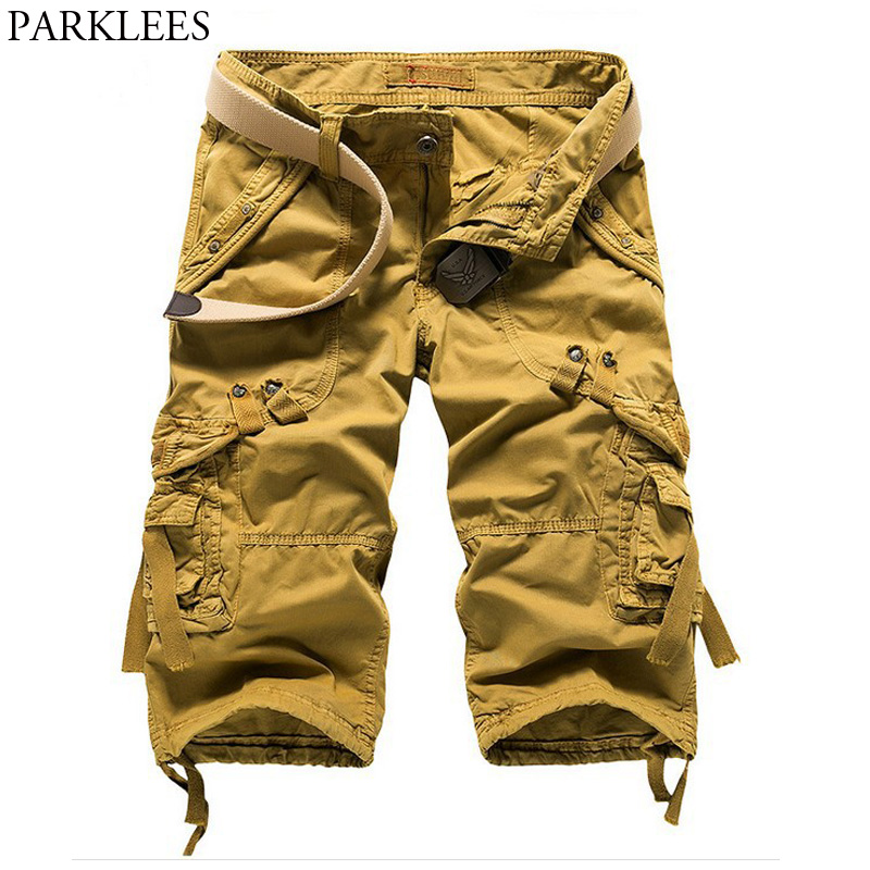53d16c80ba Mens Military Cargo Shorts 2018 Brand New Army Tactical Short Pants Men  Summer Loose Casual Work Plus Size Shorts with Pockets