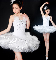 Adults White feathers Swan Lake Ballet Dress Women Ballerina Tutu Costume Classical Ballet Leotard Stage Performance Dancewear