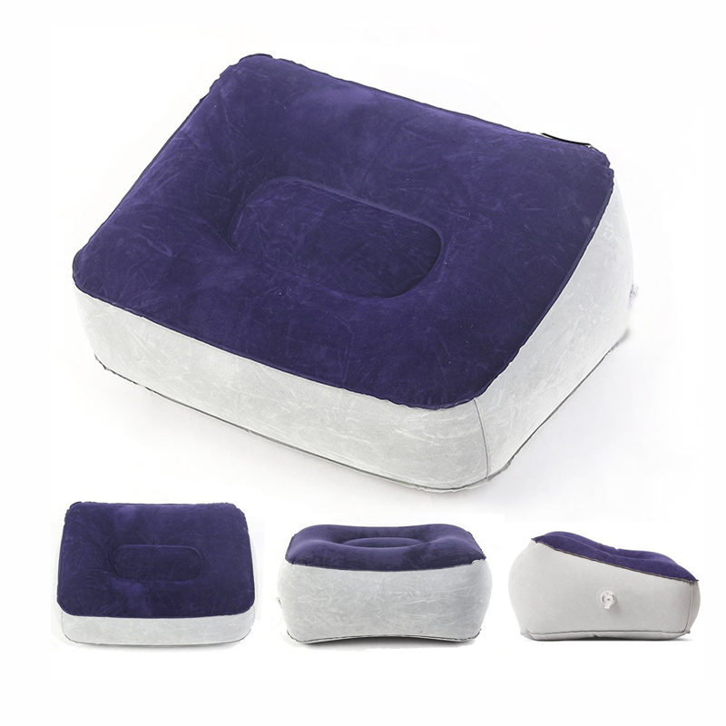LFH Inflatable Foot Rest Pillow Leg Up Footrest for Travel Office Home Relax Pillow Cushion Bed Pillow Airplane Foot Cushion