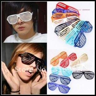 Hot Sale! Colorful Shutter Party Glasses. 10pcs/lot, free shipping