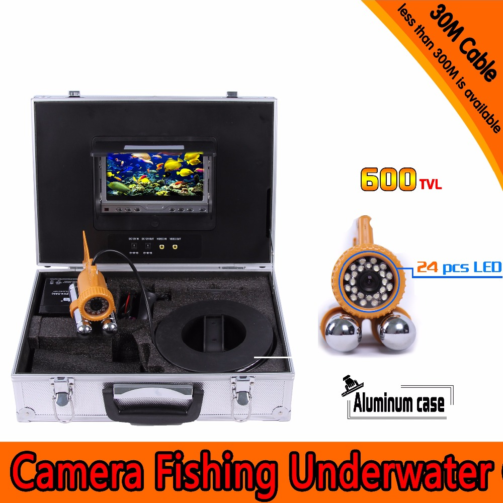(1 set) 30M Cable Underwater Fishing Camera HD700 TVL CMOS 7 Inch Color Screen Diving camera System 24 White IR LED Fish Finder(1 set) 30M Cable Underwater Fishing Camera HD700 TVL CMOS 7 Inch Color Screen Diving camera System 24 White IR LED Fish Finder
