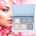 6 Cores Contorno Do Rosto Pó de Maquiagem Paleta com Escova Facial Concealer Kit Brilho