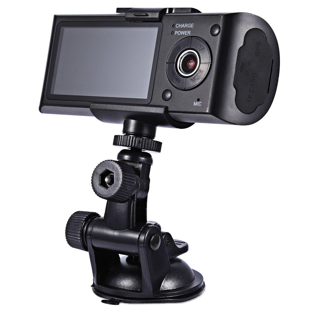 2016 Dual Lens HD Car Camera GPS DVR Recorder G sensor Camcorder Dash font b Cam