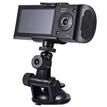 2016 lente Dual HD cámara del coche GPS DVR grabador de G-sensor Dash videocámara de la leva del vehículo de visión del tablero de instrumentos Led de visión nocturna granangular