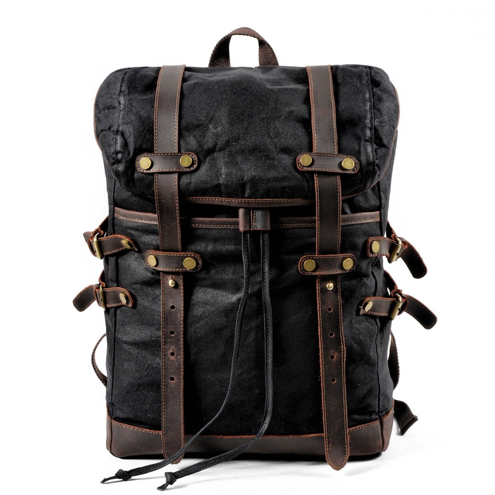 Muchuan Canvas Bag Leisure Backpack Bag Male Male Waterproof  Students Travel Bag Bag