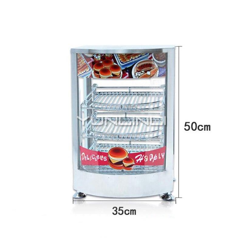 Commerciale e Alimentare Il Riscaldamento Vetrina Elettrico Cotto Conservazione di Calore cibo Caso Vetrina Cibo Elettrica NP 641 - 2