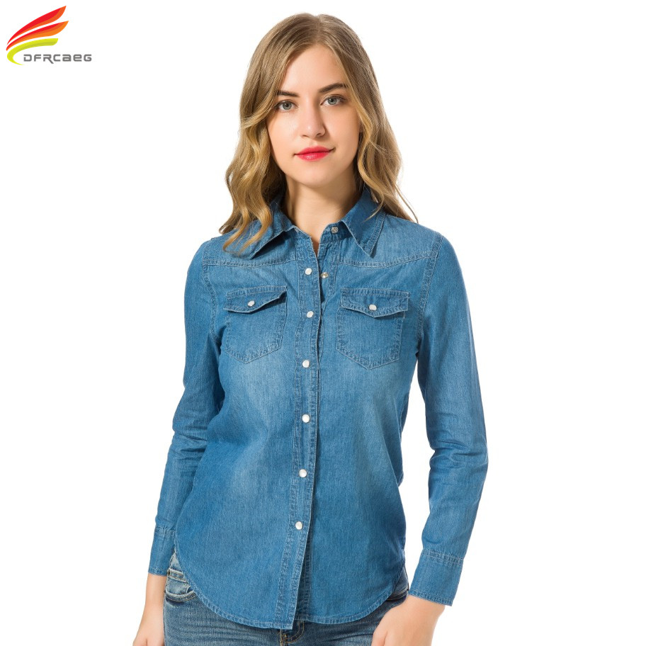 Online Buy Wholesale jean shirts women from China jean
