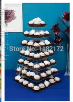 Free shipping 7 Tier SQUARE Beautiful Acrylic Cupcake Stands Party / Wedding / Festival Supplies Cake Display Shelf