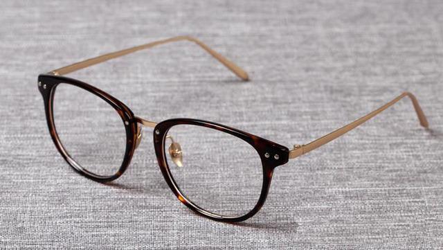 Marca Retro Moldura Redonda óculos de Acetato Frame Ótico Óculos Das Mulheres Dos Homens Full-aro Armações de Óculos de Prescrição de Óculos Da Moda 2934