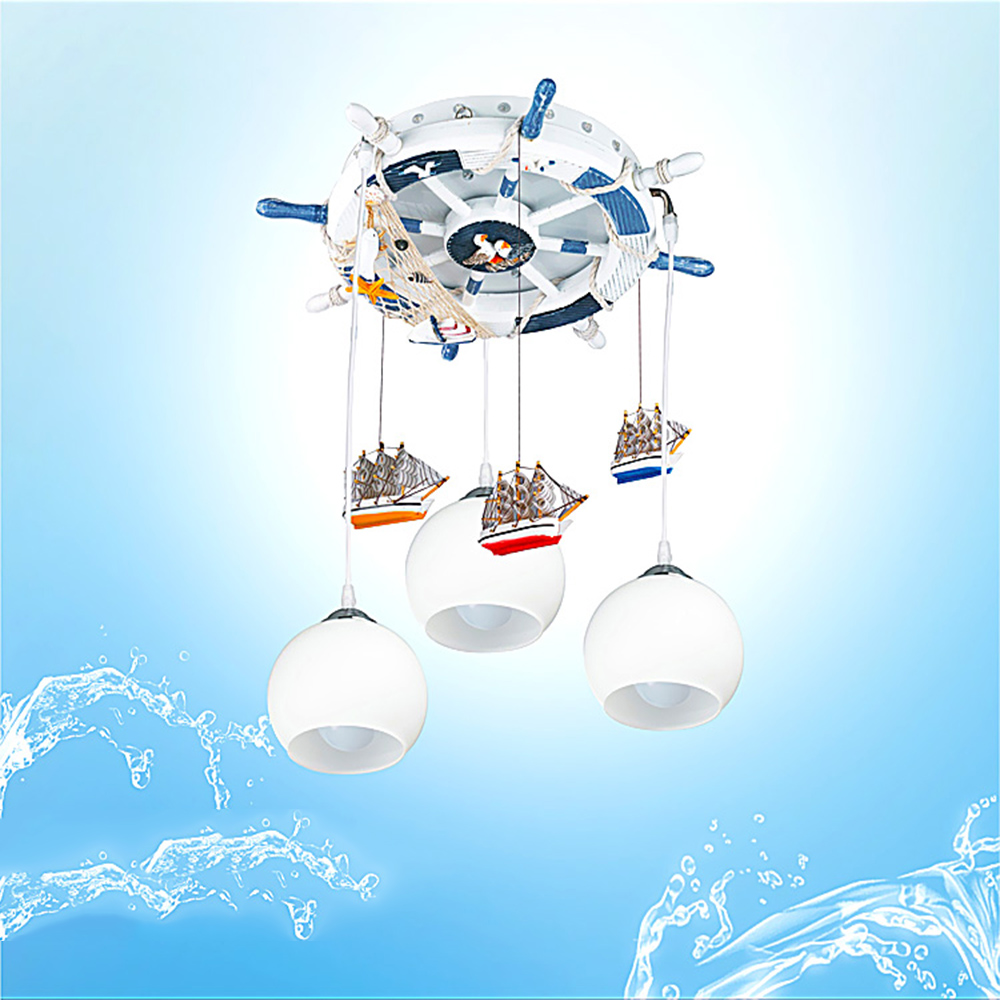 Mediterranean baby room chandelier Led 110V 220V E27 glass ball light modern led chandelier children's chandelier lighting kids