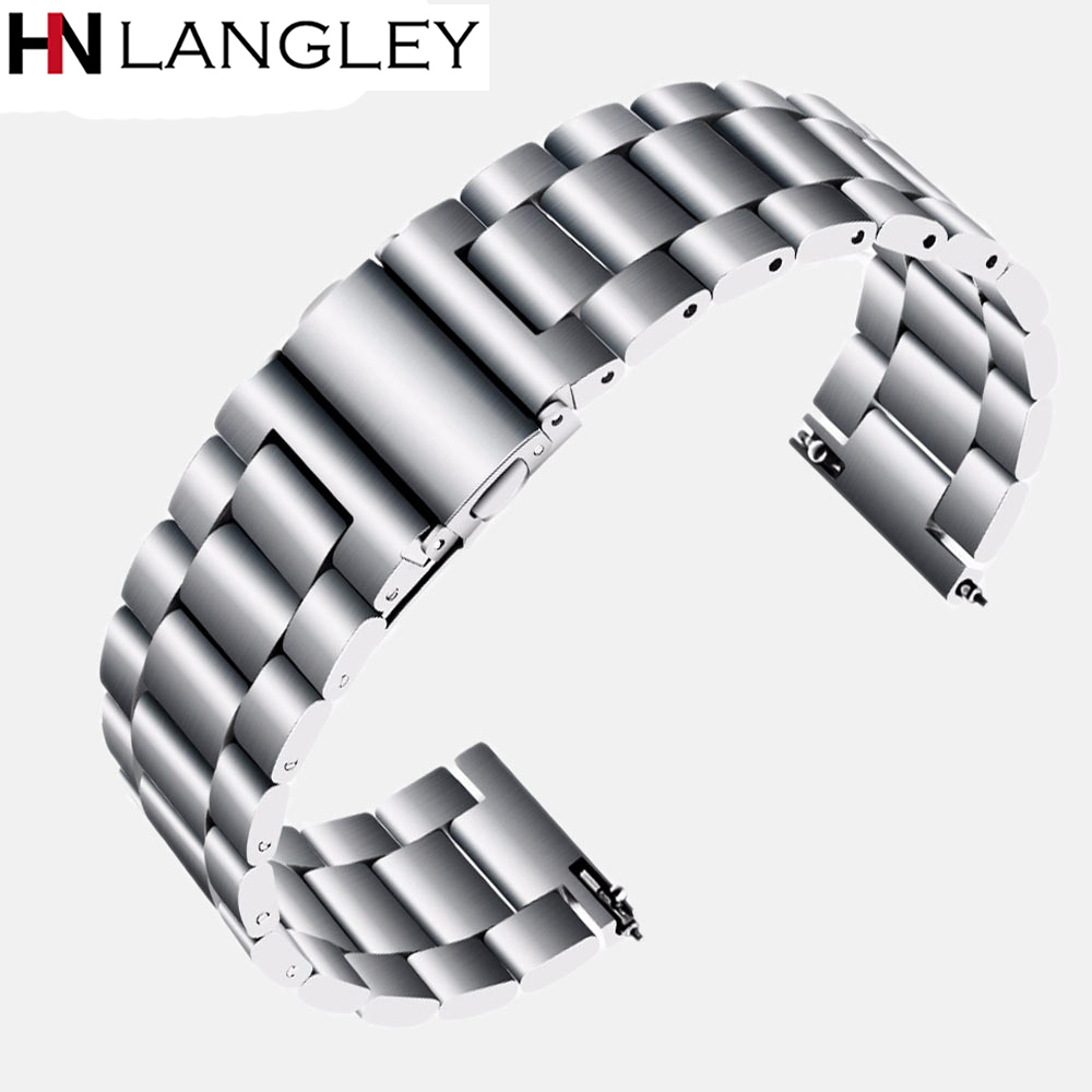 18mm 22mm 20mm 24mm Stainless Steel Watch Band Straps For Samsung Gear S3 Frontier S2 Class Galaxy Watch Metal Quick Replacement18mm 22mm 20mm 24mm Stainless Steel Watch Band Straps For Samsung Gear S3 Frontier S2 Class Galaxy Watch Metal Quick Replacement