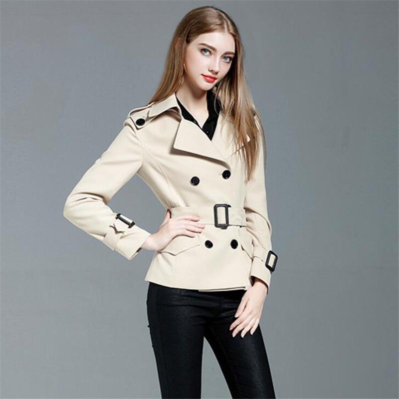 Spring Coat Women 2019 Autumn New   Trench   Coat Korean Fashion Slim Double Breasted Short Windbreaker coats Female Overcoat Women