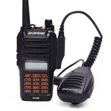 Alto falante à prova dwaterproof água para walkie talkie 100% adequado para baofeng à prova dwaterproof água walkie talkie UV 9R BF A58 BF 9700 microfone alto falante