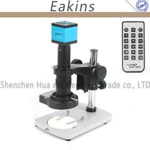 16MP 1080P промышленный цифровой видеорегистратор микроскоп камера набор + подставка + 144 LED свет + 180X C крепление объектива для пайки печатных пла...