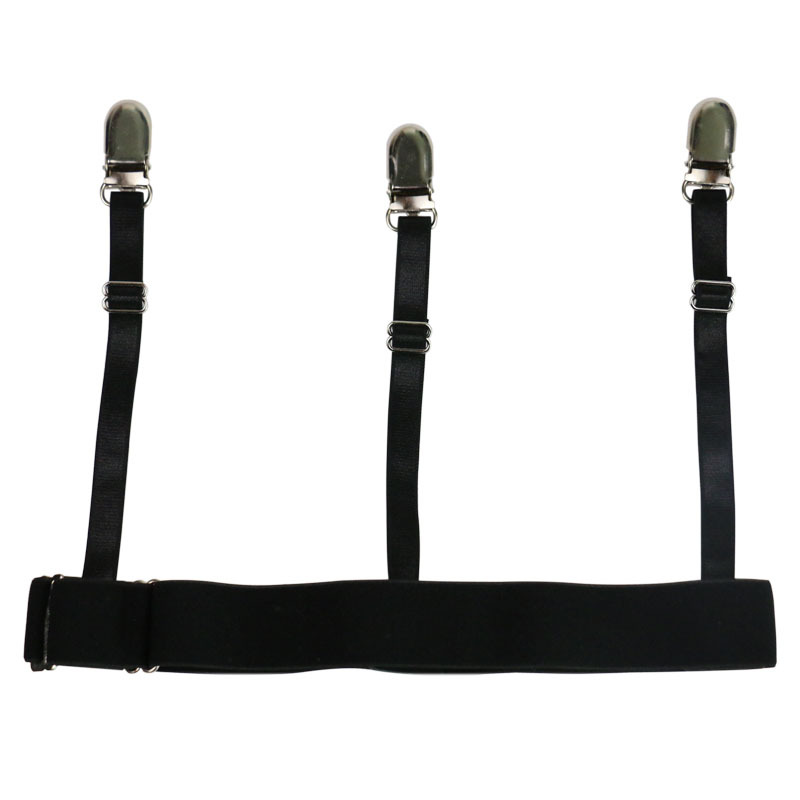 HUOBAO Men Shirt Stays Belt With Non-slip Locking Clips Keep Shirt Tucked Leg Thigh Suspender Garters Strap