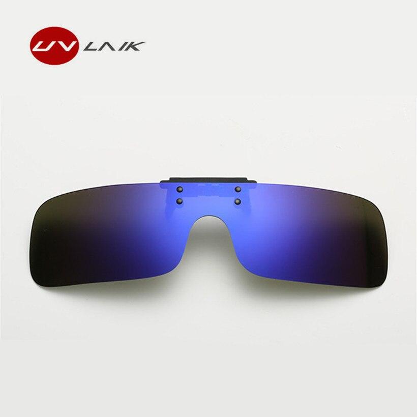 UVLAIK Frauen Clip auf Sonnenbrille Männer Polarisierte Vintage Retro Clip  auf Myopie Gläser Fahrer Nachtsicht Brille Sonnenbrille UV400 35ede29206