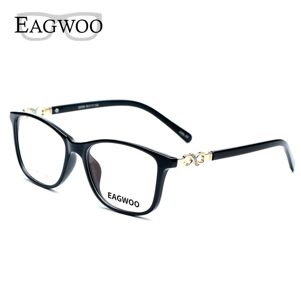 Asetaatti TR90 naisten naisten silmälasit, koko kehys kristalli, - Vaatetustarvikkeet - Valokuva 5