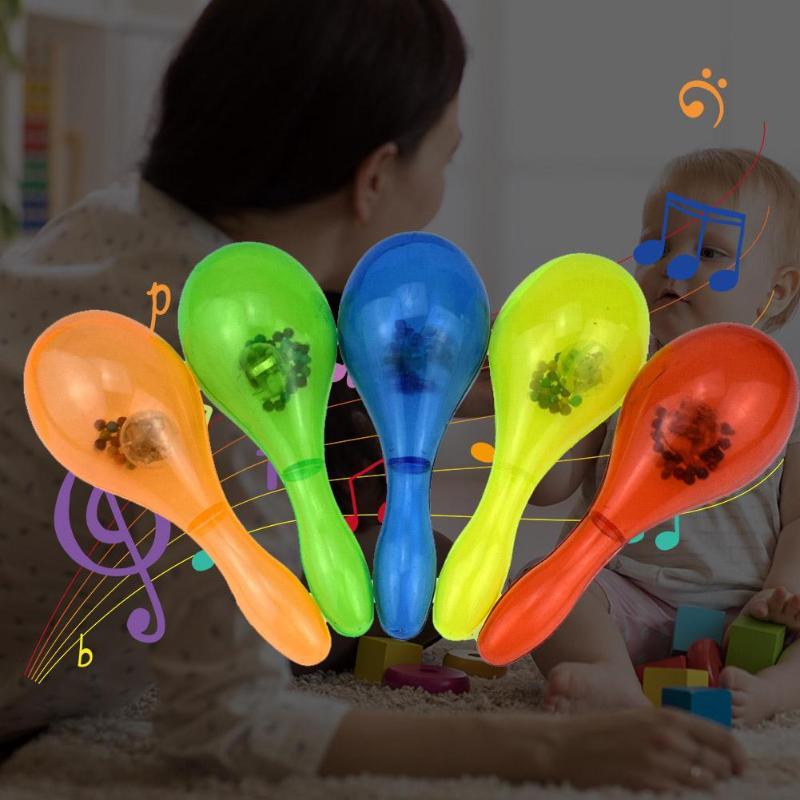 Kids Luminous Percussion Sand Hammer Toys Children Plastic Noise Maker Musical Instrument Toys Baby Music Toy Random Color