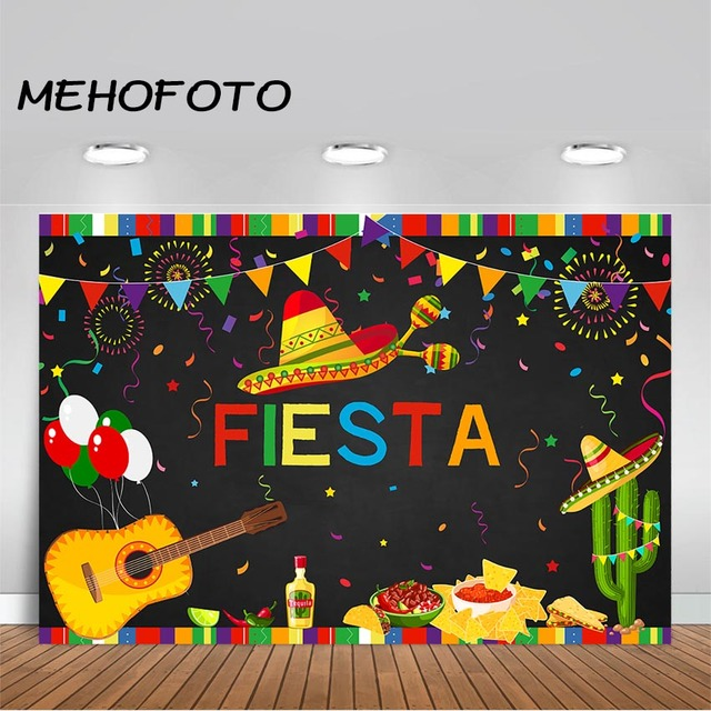 MEHOFOTO Fiesta Birthday Backdrop Mexican Fiesta Themed 1st Birthday Photo Booth Background Summer Luau Cinco De Mayo Party