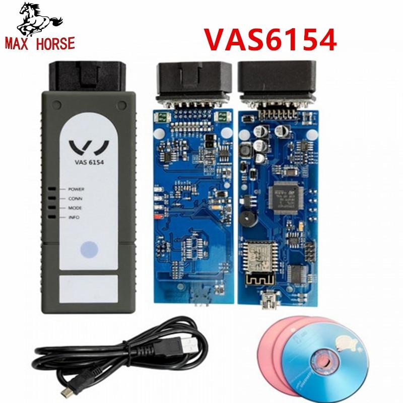 Горячая последней версии WI-FI/Bluetooth VAS6154 ODIS V4.3.3 полный чип OKI VAS 6145 инструмент диагностики лучше, чем 5054A V4.23 поддержка UDS