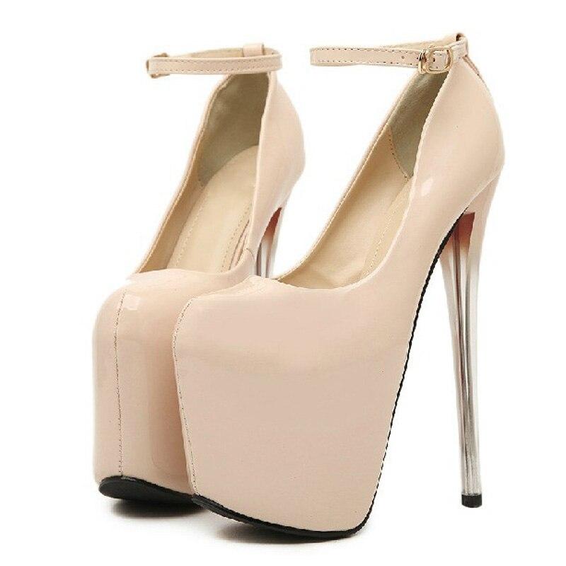 22 Femmes Cm Wsh289 Cm Cm Chaussures Hauts Cm Black 19 Cuir En 16 skin 19 Plateforme Verni Ultra Soirée De Talons Escarpins 22 Beckywalk Cm black O4AB7qxw