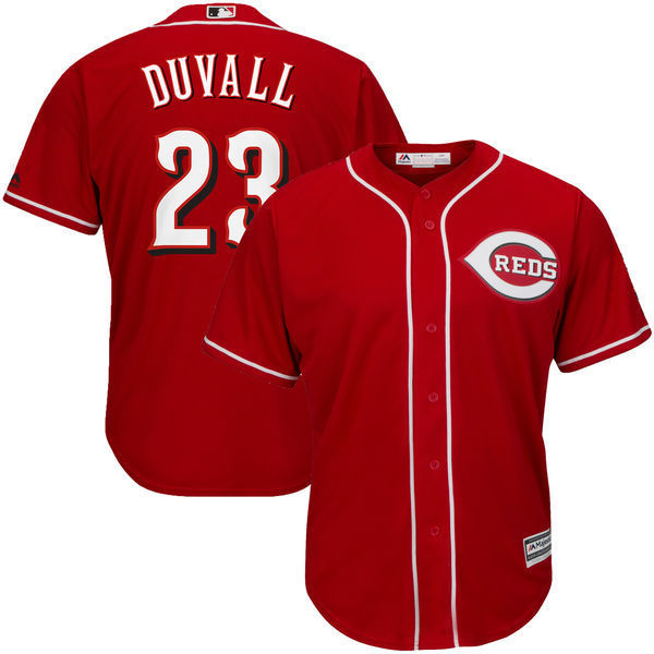 MLB Mens Cincinnati Reds Adam Duvall Baseball Scarlet Official Cool Base Player Jersey