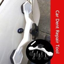 8 piezas herramienta universal de reparación de abolladuras de coche herramientas de mano Kits de reparación de la puerta del coche vehículo Auto pegamento Stick tirar dispositivo de puente