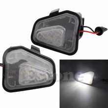 2pcs ULTRA BRIGHT LED SIDE MIRROR PUDDLE LIGHT FOR VW CC Passat Scirocc Auto Lamp