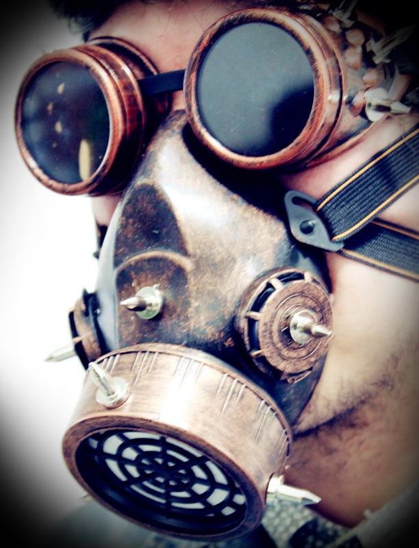 Image 4 - Steampunk Retro Glasses Gas Masks And Goggles Gothic Cos Stage  Props Personality Anti fog Haze Maskmasking definitionmask  motorcyclemask realistic