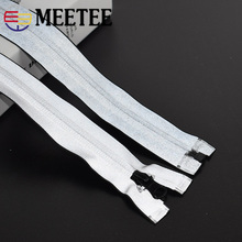 Meetee 5# Nylon Coil Zippers Reflective Waterproof 20cm Close End 40-80cm Zip DIY Sun Jacket Sportswear Clothing Sewing Material