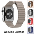 high quality 100% Genuine Leather strap Watchband For Apple Watch Magnetic Loop clasp Watch band iwatch Band leather 38mm 42mm