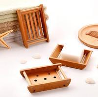 Venta al por mayor creativa caja de jabón de madera hecha a mano para baño suministros de baño LX1877