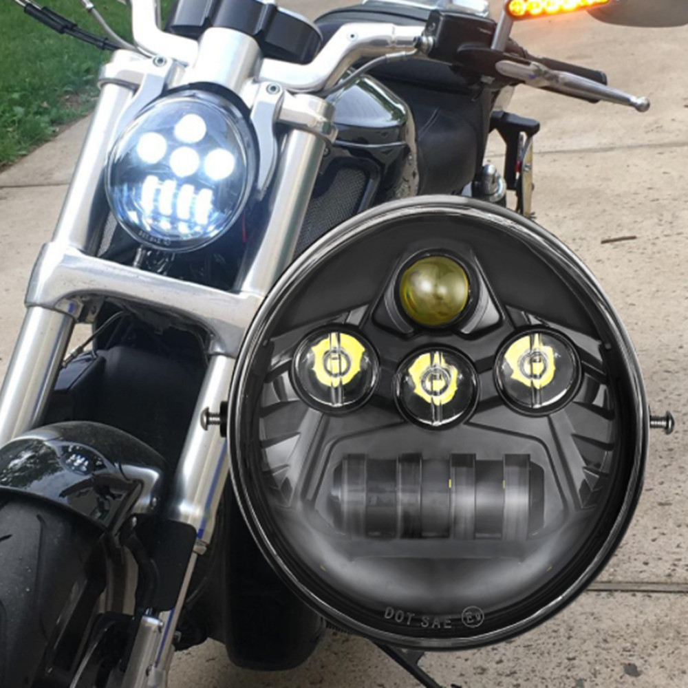 Ovale HA CONDOTTO Il Faro Per Harley Davidson Vrsca V-rod Vrod