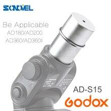 Witstro ad 180 ad 360 AD S15 및 godox ad200 용 godox AD 360II 플래시 램프 튜브 벌브 보호기 커버