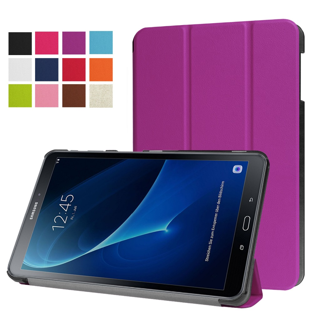 Ultra Slim Custer 3 Folder Folio Stand PU Leather Magnetic Cover Case For Samsung Galaxy Tab