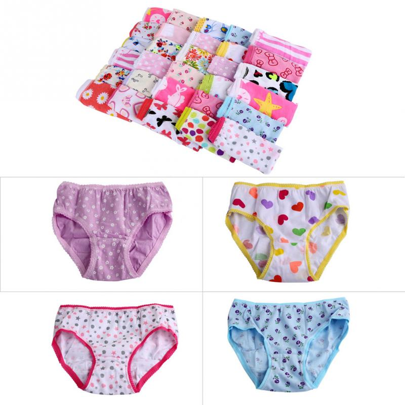 6PCS / SET kids underwear baby cotton underwear child panties girls underwear pants panties children girl underwear kids 1