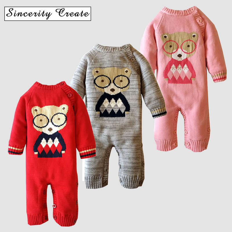 Character One-pieces Carton Thick warm Sweater Baby Girl Boy Jumpsuit Baby Girl Winter Clothes unisex O-neck romper ABS-1535 glasgow k girl in pieces