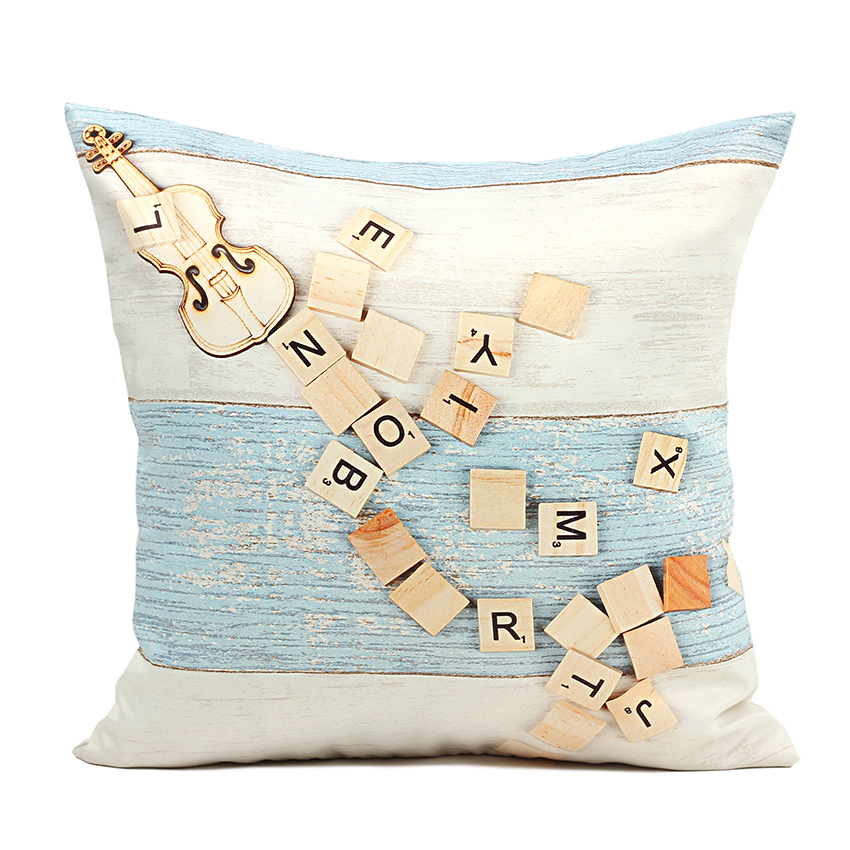 High Quality 40 45 50 60cm Cushion Cover Letter Decorative Pillows Cover  Outdoor Cushion Covers Bed