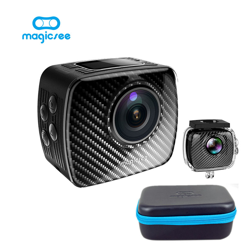 Sport Action camera Magicsee P3 360 Panoramic Camera Dual Lens 3040*1520 30fps 1500mAh Go 30m Waterproof Case Pro 16MP VR Camera 360 camera hd panoramic mini camera wide dual angle fish eye lens action camera 3040 1520 usb sport