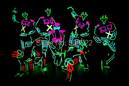 EL Wire robotpak voor talentenjacht / avondoptredens / - Feestversiering en feestartikelen - Foto 1