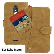 Vintage Leather Wallet Echo Moon 4.7 Case Flip Luxury Card Slots Cover Magnet Stand Phone Protective Bags vintage leather wallet echo fusion 6 case flip luxury card slots cover magnet stand phone protective bags