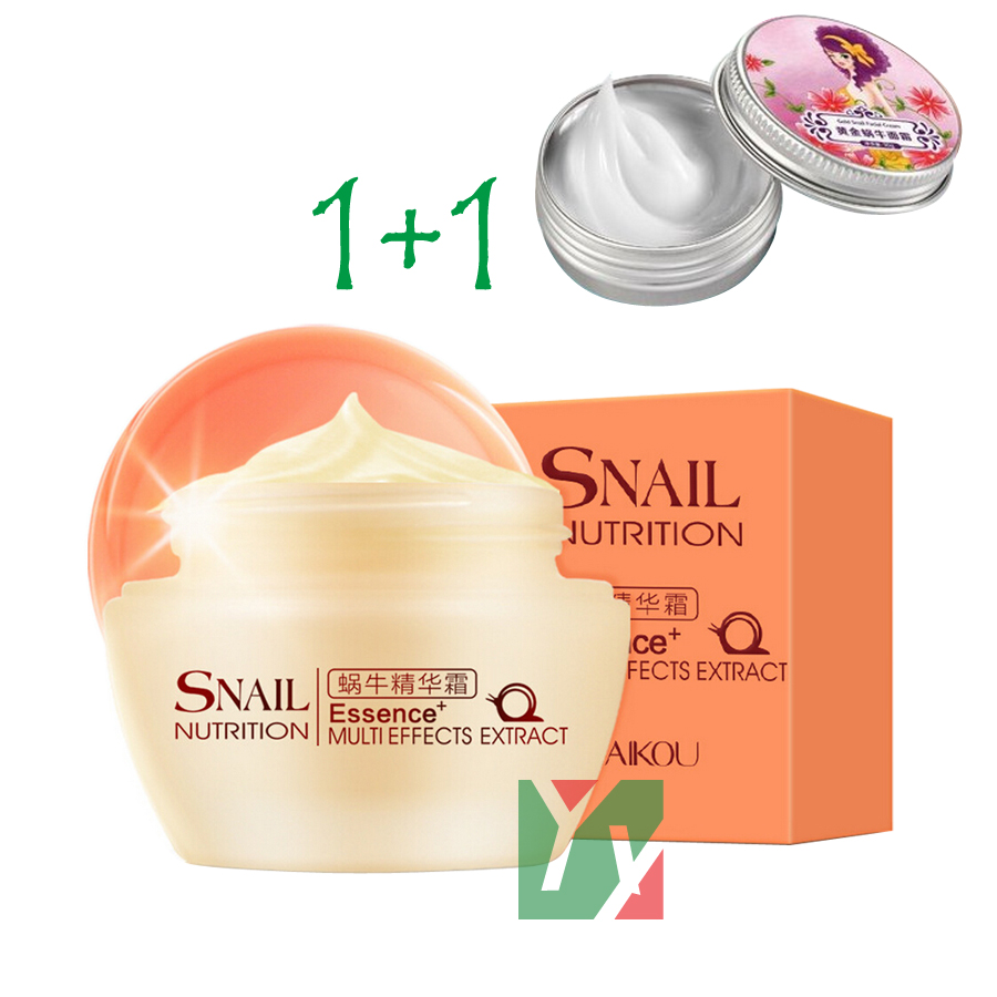 Snail Cream Face Care Skin Treatment Reduce Scars Acne Pimples Moisturizing Whitening Anti Winkles Aging Cream 50g+30g
